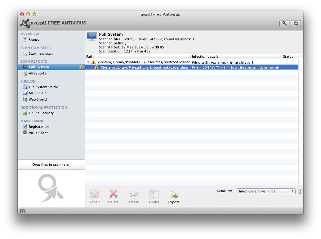 Avast Antivirus free para Mac 8.0