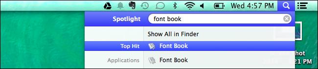 Fuentes en Mac