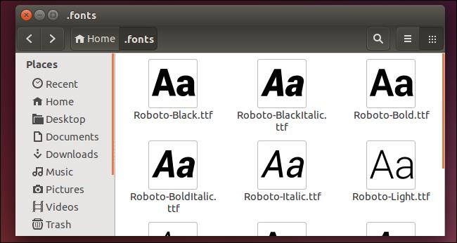 Fuentes en Linux
