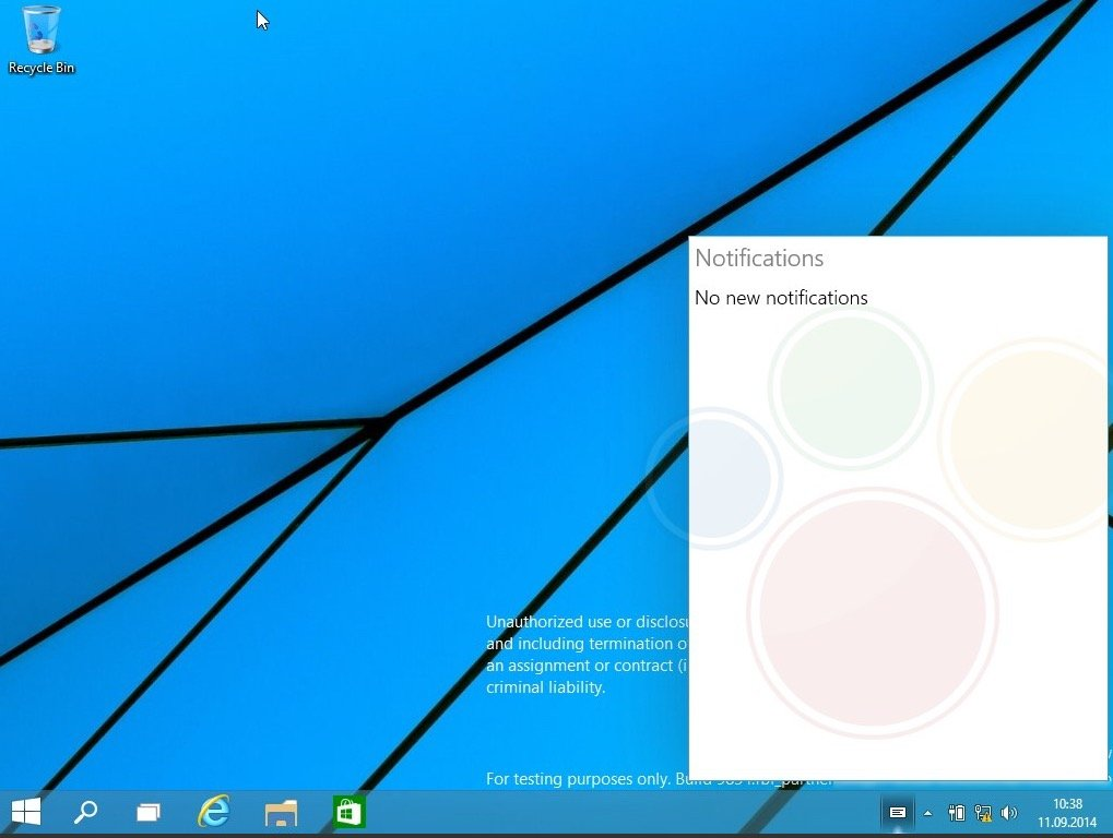 Windows Threshold build 9834
