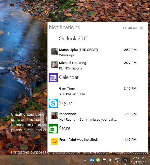 Windows 10 Centro de Notificaciones