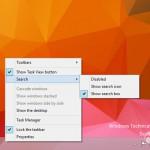 Windows 10: Como activar la casilla de búsqueda oculta en la barra de tareas en la versión 9879