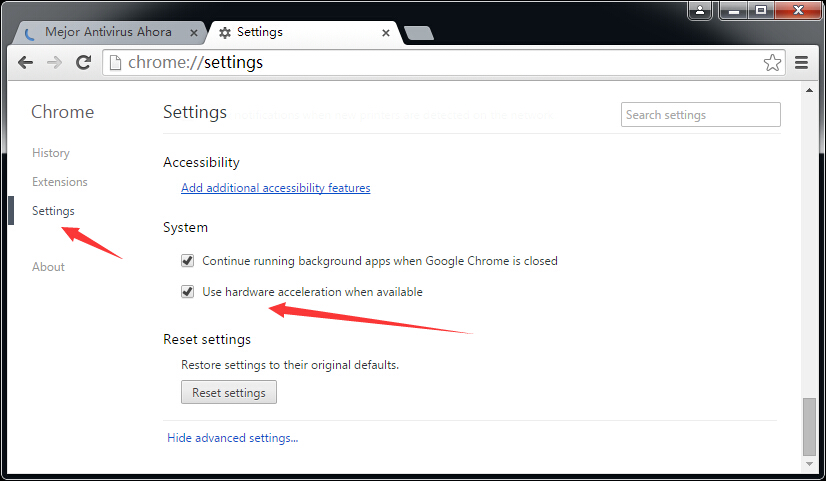 la Carga Lenta de Páginas en Google Chrome