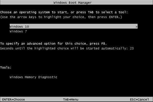 Menú de arranque de Windows 7 estilo