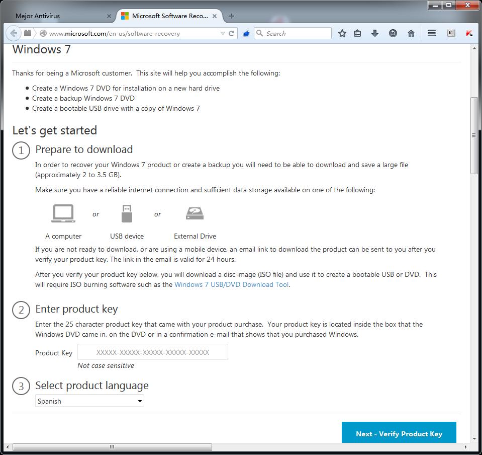 Descargar windows 7 ISO Oficiales Gratis