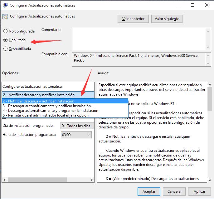 Desactivar la Actualización de Windows