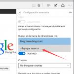 Cómo cambiar el motor de búsqueda predeterminado de Microsoft Edge en Windows 10