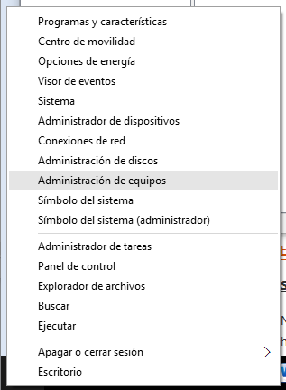 Servicios de Windows 10