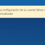 La Configuración de su cuenta Outlook no está actualizado – Notificación de la app Mail de Windows 10