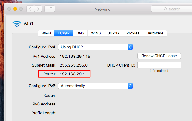 Admin router red ipo networks