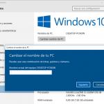 Cómo Cambiar el Nombre de PC en Windows 10