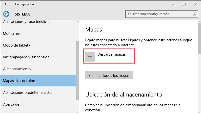 mapas sin conexión