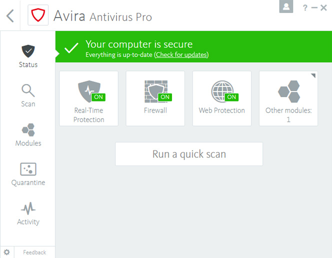 Avira Antivirus Pro 2018