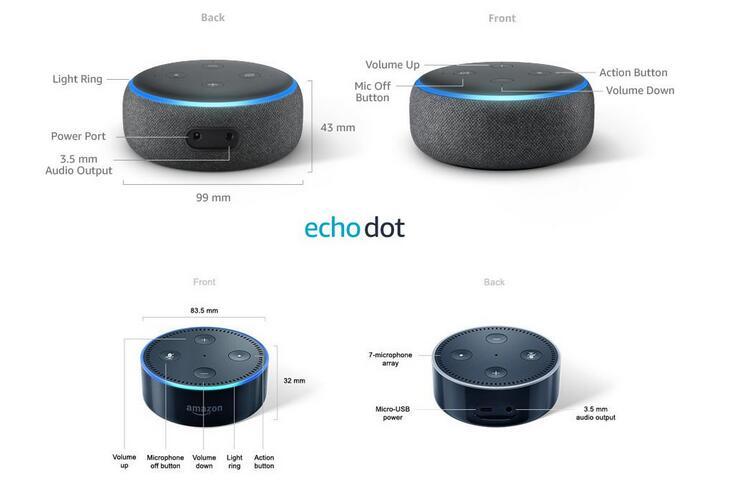 Echo Dot 3 vs Echo Dot 2